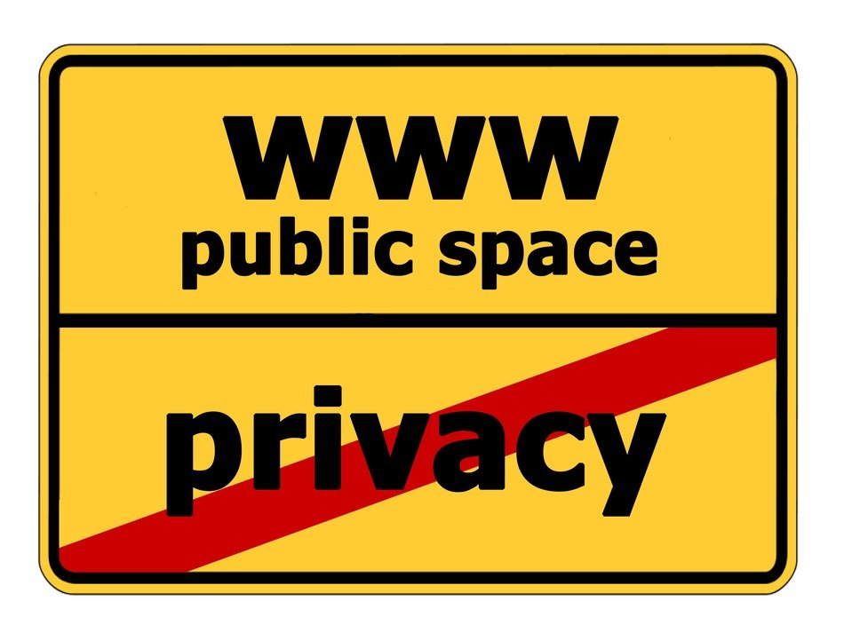 sign www public space no privacy