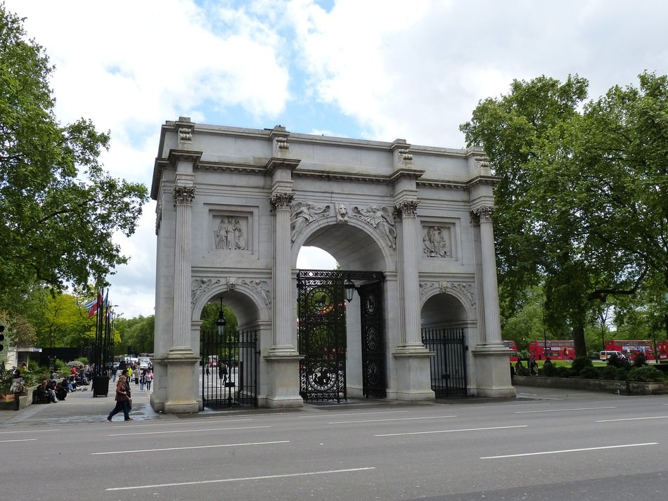 marble arch with three entrances