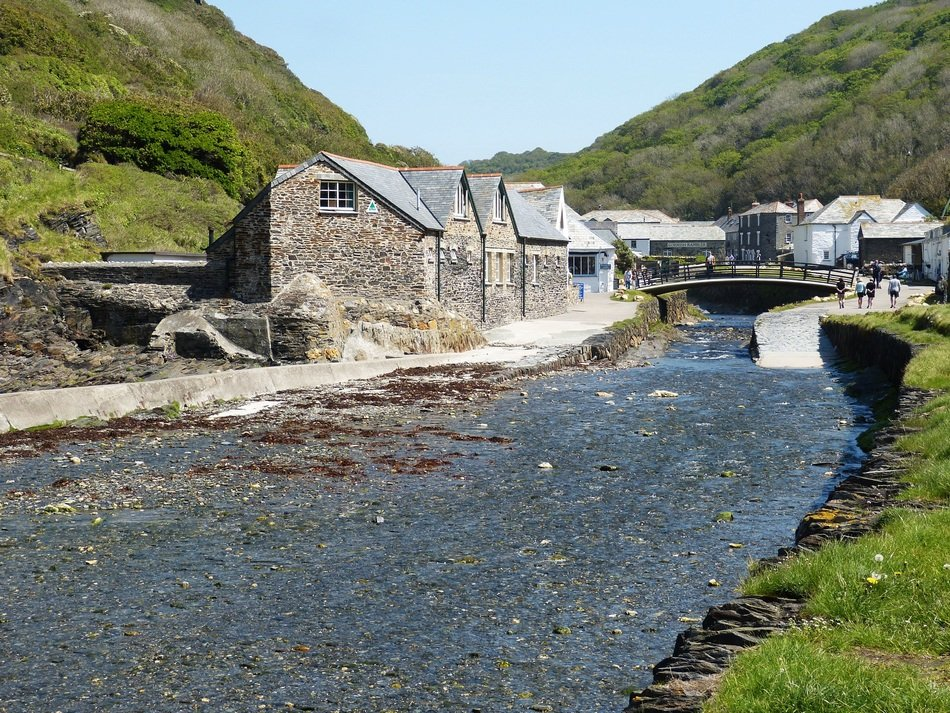 cornwall boscastle village UK