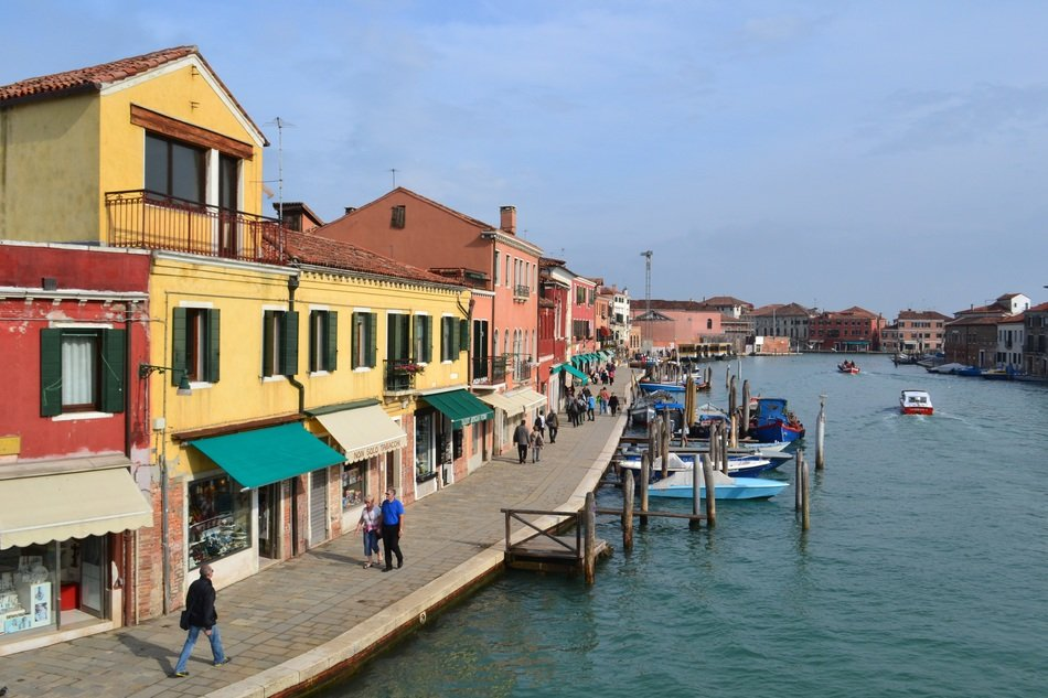 pier on the island of Murano in Venice
