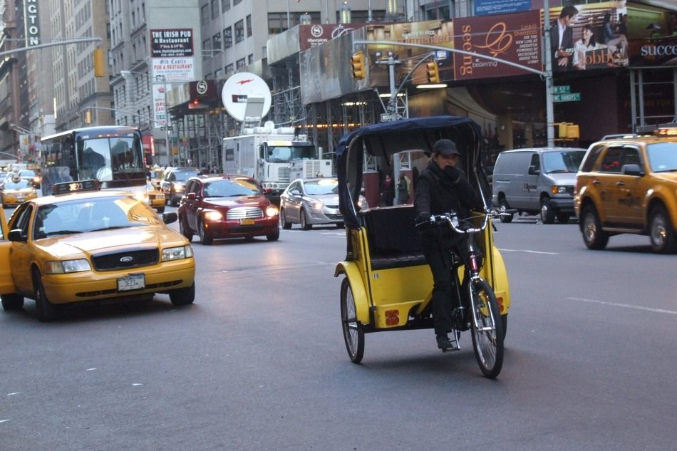 taxi at street, usa,new york city