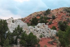 Red and white rocks in New Mexico