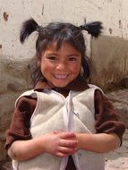 attractive beautiful peru girl