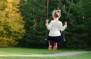 Photo of girl is on a swing
