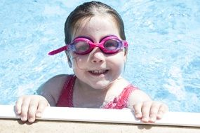 girl swimming goggles summer