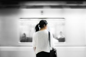 asian girl in subway