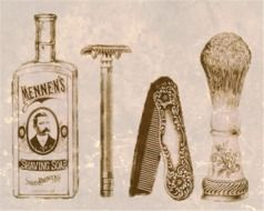 vintage shaving grooming man kit