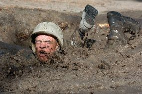 crawl mud obstacle