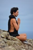 meditate man people yoga concentration