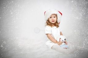 cute baby for Christmas photo