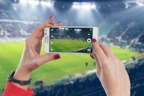 shoot a football match on the phone samsung