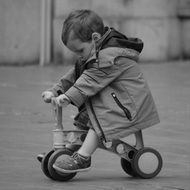 child balance bike boy people