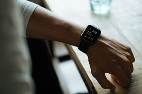 black smartwatch