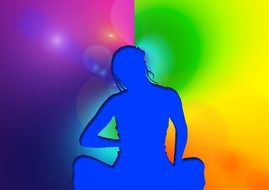 meditation reflection woman person yoga nirvana
