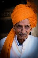 portrait of indian man head turban