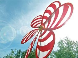 Photo of whirligig at the sunlight