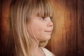 child girl blond long hair cute face