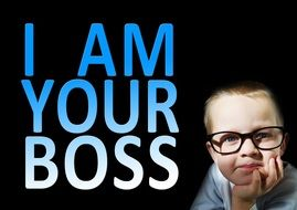 child i am your boss drawing
