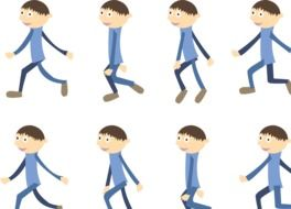 Clipart of lots of walking boys