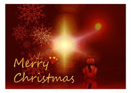Festive greeting card merry christmas