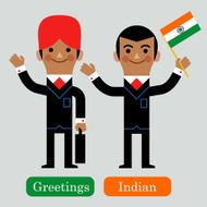 InfoGraphic Indian Business man N2