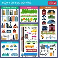 Modern city map elements for generating your own infographics N8