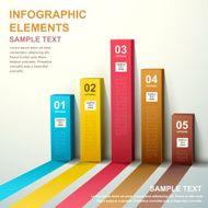 3d abstract bar chart infographics N2