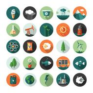 Modern flat design conceptual ecological icons and infographics elements