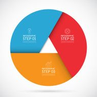 Three steps infographic circle template