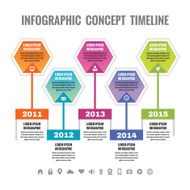 Infographic business concept - timeline vector template N2