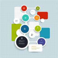 Minimal Infographics elements design Abstract circles and squares infographics N5