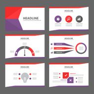 Purple and red multipurpose presentation templates