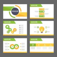 Yellow and green Multipurpose Presentation Templates set