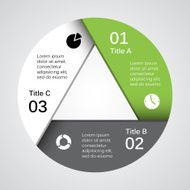 Modern vector info graphic for business project N202