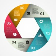 Modern vector info graphic for business project N204