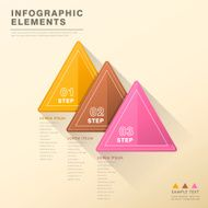 abstract triangle tag infographics N2