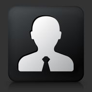 Black Square Button with Male Headshot Icon N2