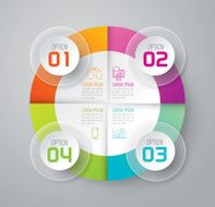 Infographic design template and marketing icons N70