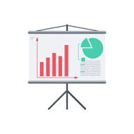 Infographic board screen with diagrams