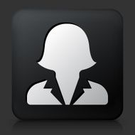 Black Square Button with Female Headshot Icon N2