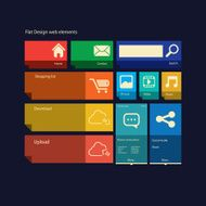 Flat design icons layout vector illustration N2