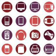 Vector Set of Digital Devices Icons N8