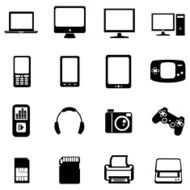 Vector Set of Digital Devices Icons N9
