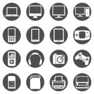 Vector Set of Digital Devices Icons N11