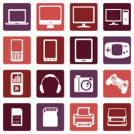 Vector Set of Digital Devices Icons N12