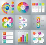 Infographic design template and marketing icons N83
