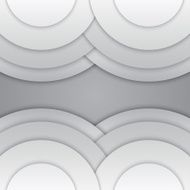 Abstract grey paper circles vector background N12