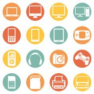 Vector Set of Digital Devices Icons N15