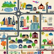 Modern city map elements for generating your own infographics N9