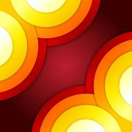 Abstract red and orange circles vector background N12
